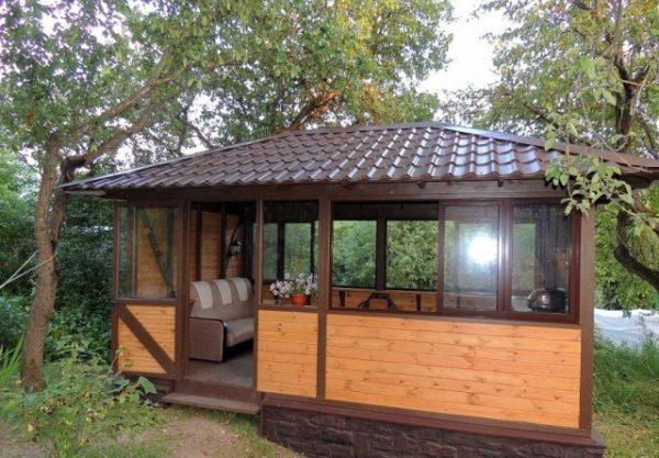 Летняя кухня с беседкой - проекты и порядок постройки