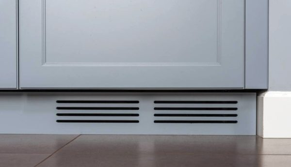 Пример вентиляционного отверстия для ящика с газовым котлом