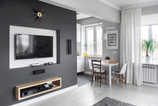 Дизайн кухни с телевизором - разместить на стене или встроить в кухонный гарнитур