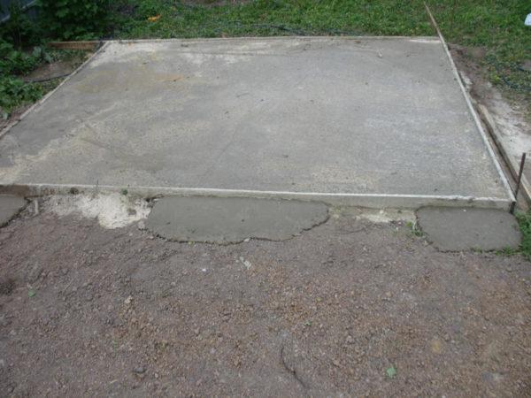 Фундамент после застывания