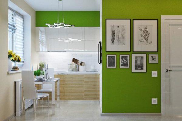 Зеленыестены– акцент в дизайне