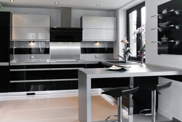 Дизайн угловой кухни с барной стойкой - идеи и правила расположения