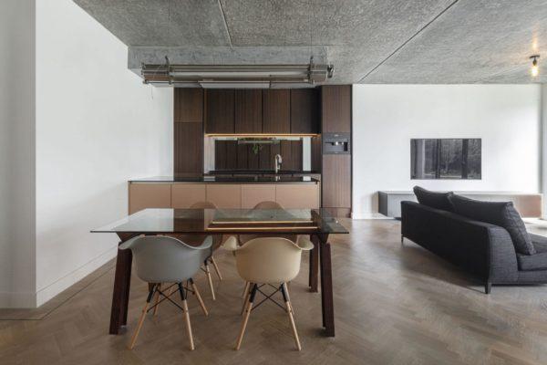 кухня- столовая в стиле минимализм