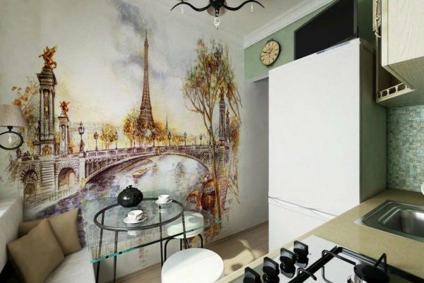 Что нарисовать на стене на кухне своими руками