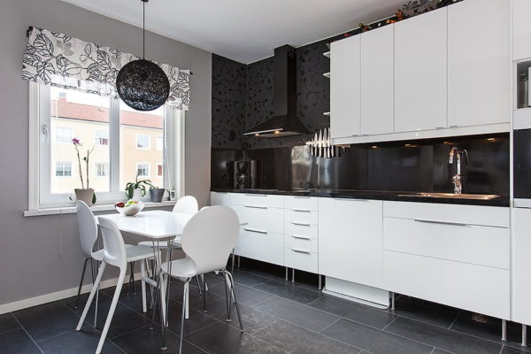 Кухня с темной столешницей - какой подобрать цвет гарнитура и фартук