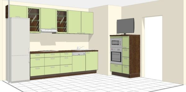 Дизайн кухни П-44 с воздуховодом - особенности оформления планировки
