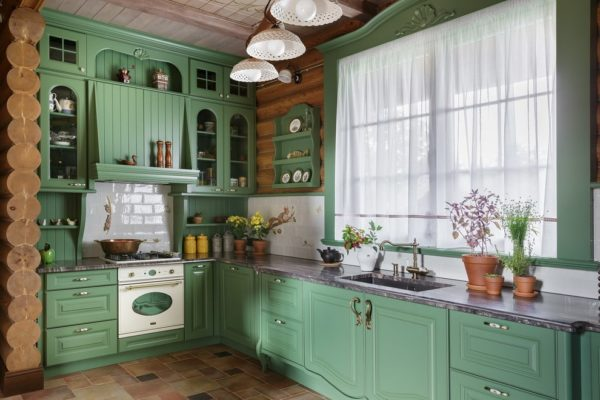 Кухня в изумрудных тонах - оформление современного дизайна и интерьера