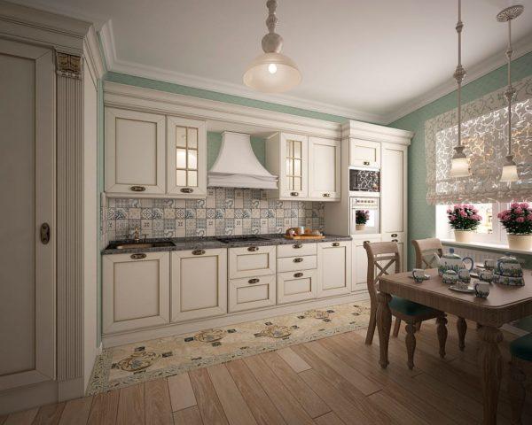 Интерьер большой кухни в современном стили - планировка просторной кухни