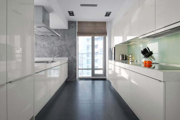 Дизайн двухрядной кухни - варианты планировок на 2 стороны