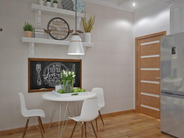 Как обыграть пустую стену на кухне - идеи дизайна и украшений