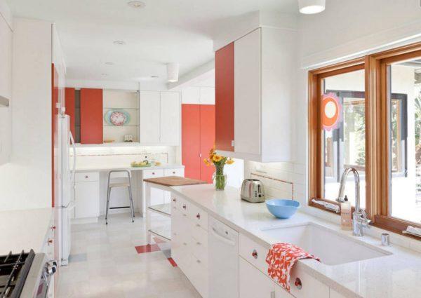 Дизайн кухни в персиковых тонах - идеи оформления интерьера
