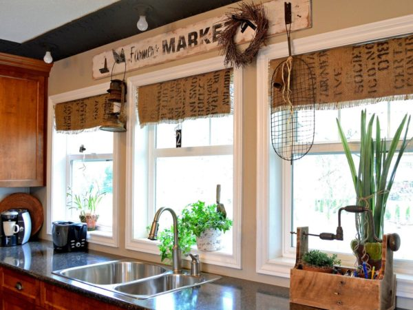 Как выбрать шторы для кухни в стиле кантри