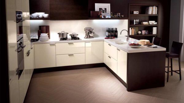 Дизайн кухни в молочном цвете - оформление дизайна и интерьера