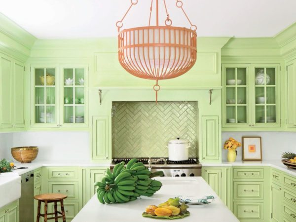 Кухня фисташкового цвета - варианты оформления уютного интерьера