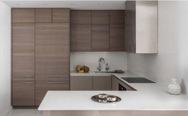 Коричневая кухня в интерьере - варианты отделки сочетания цветов