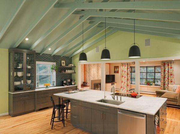 Дизайн кухни мятного цвета - идеи использования мяты в интерьере