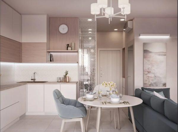 Кухня в коричнево бежевых тонах - идеи оформления дизайна и уютного интерьера