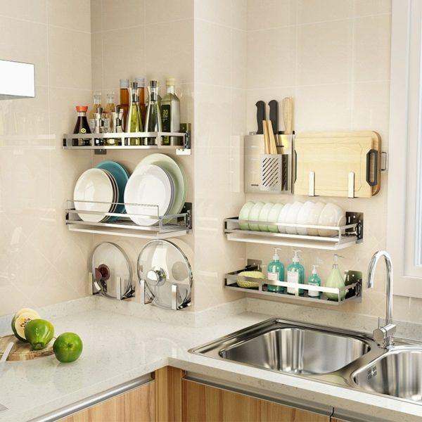 Внутреннее наполнение кухонных шкафов - варианты и идеи хранения