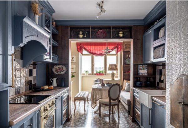 Дизайн кухни гостиной в классическом стиле