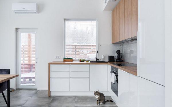 Дизайн кухни гостиной в скандинавском стиле - идеи оформления интерьера
