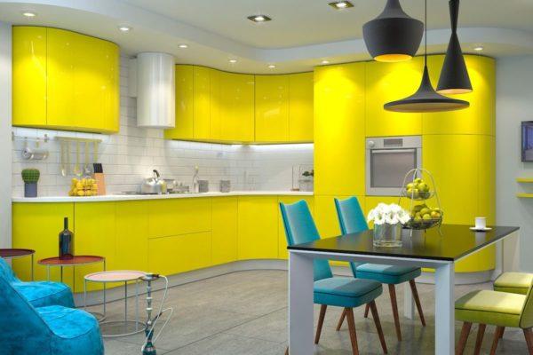 Размещение точечных светильников на кухне - какой свет использовать