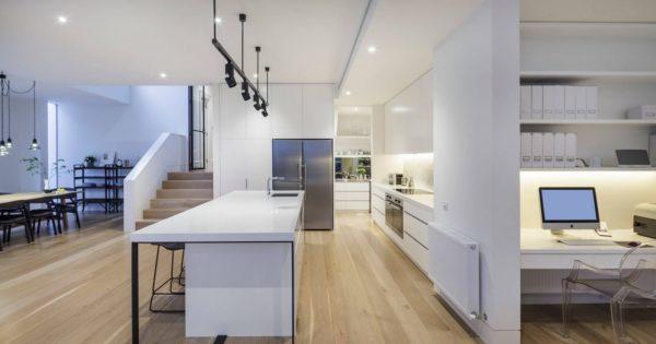 Дизайн черно - белой кухни: идеи применения в интерьере