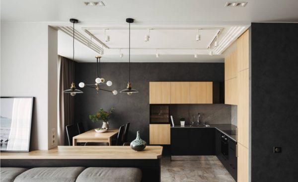 Дизайн угловой кухни в современном стиле - оформление интерьера