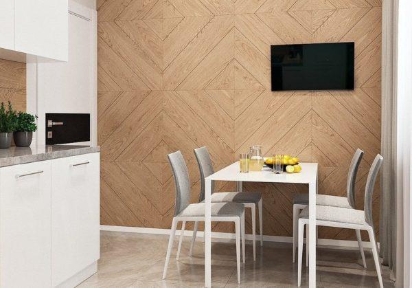 Отделка стен кухни ламинатом - идеи оформления дизайн интерьера