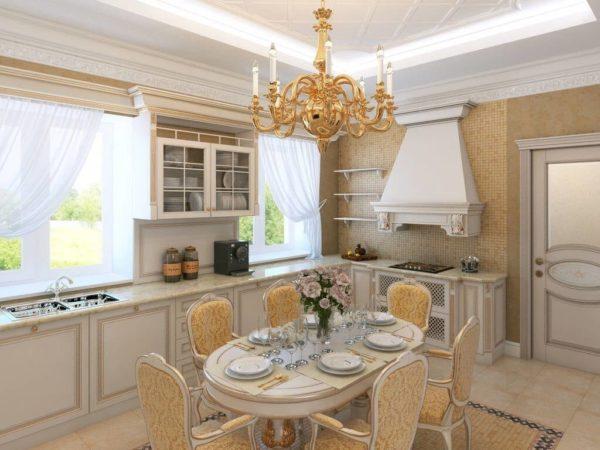 Красивая кухня в классическом стиле - особенности оформления интерьера