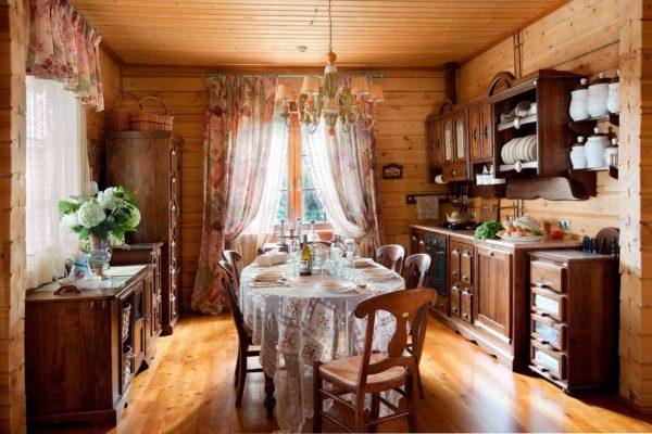 Кухня в деревенском доме - идеи оформления дизайн интерьера в деревне