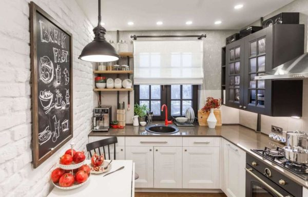 Дизайн маленькой кухни в стиле лофт - варианты оформления интерьера