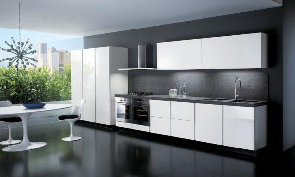 Дизайн кухни с темным полом - варианты оформления интерьера